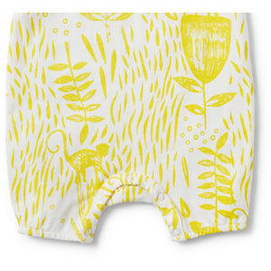 Load image into Gallery viewer, Baby Playsuit - Mellow Yellow Ruffle Singlet Strap - Baby Luno