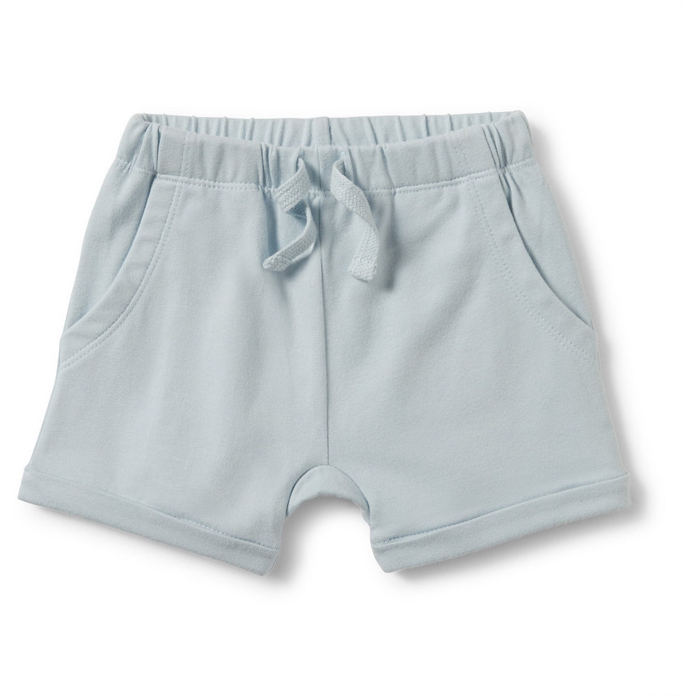 Baby Shorts - Powder Blue Slouch Pocket