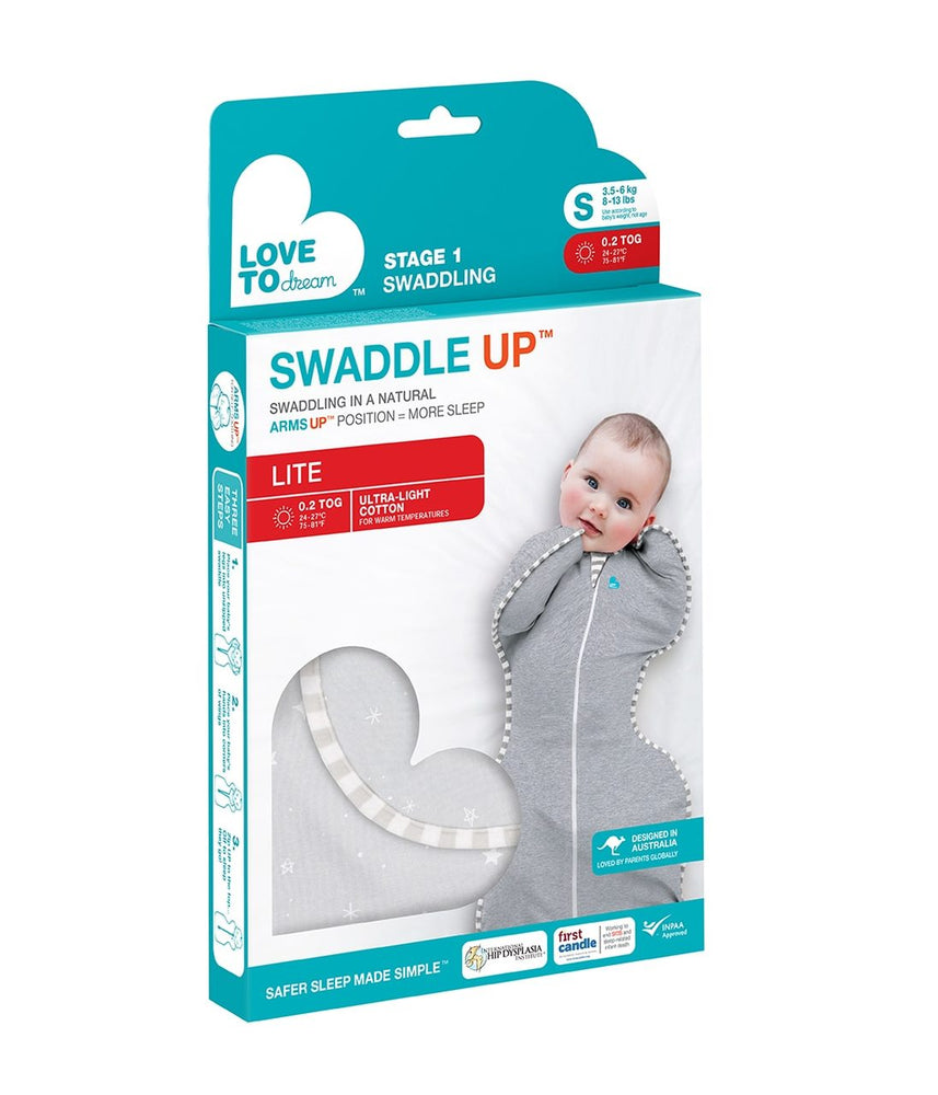 Love To Dream STAGE ONE Swaddle UP LITE TOG 0.2