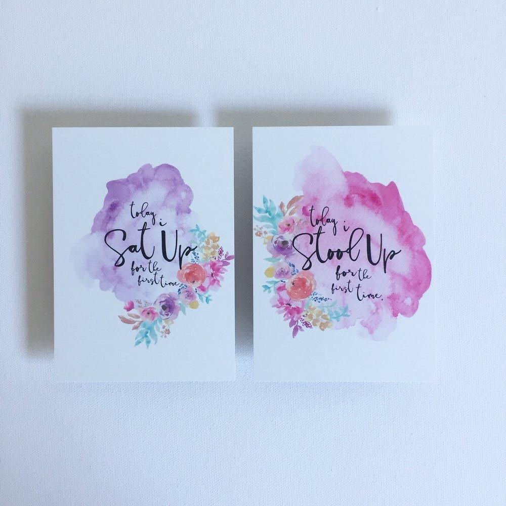 Baby Milestone Cards - The Sadie Collection - Baby Luno