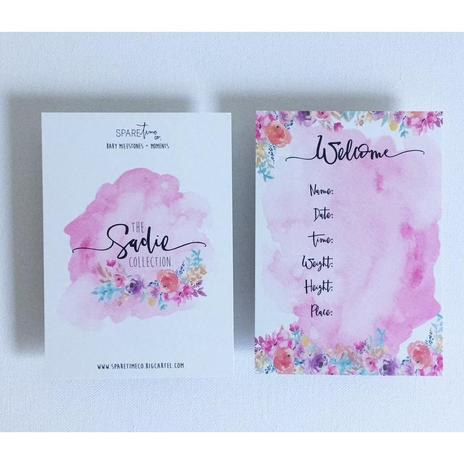 Baby Milestone Cards - The Sadie Collection