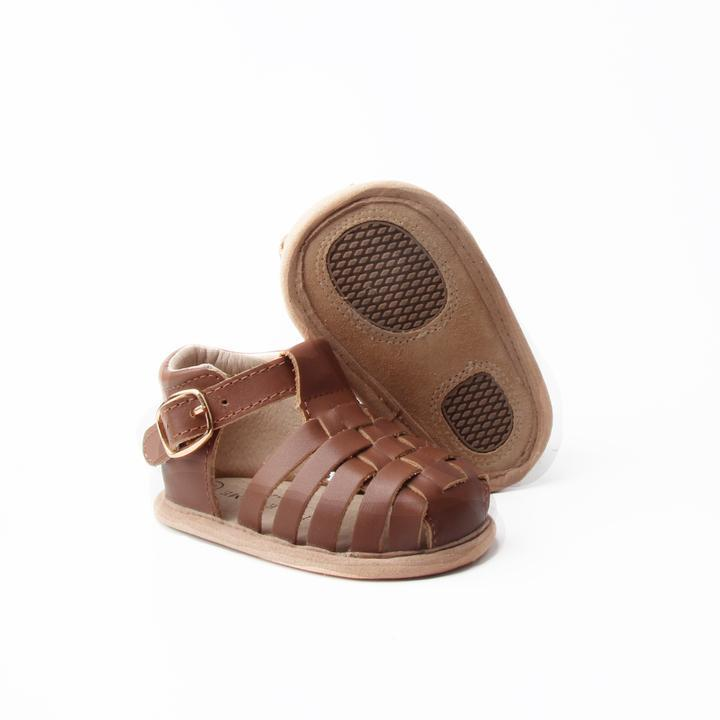 Baby Shoe - Little MeMe Scout Sandal Chocolate - Baby Luno