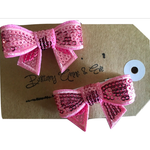 Child Hair Clip - 2-pack Pink Bow - Baby Luno