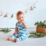 Baby Short Sleeve Zipsuit - Jungle Leaf - Baby Luno