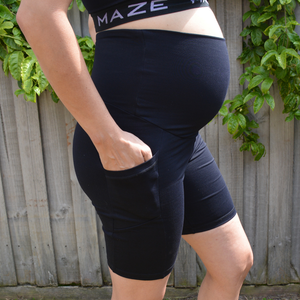 Load image into Gallery viewer, Maternity Shorts - Maze Pregnancy & Postpartum - Baby Luno