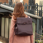 Baby Bag - Storksak St James Leather Oxblood