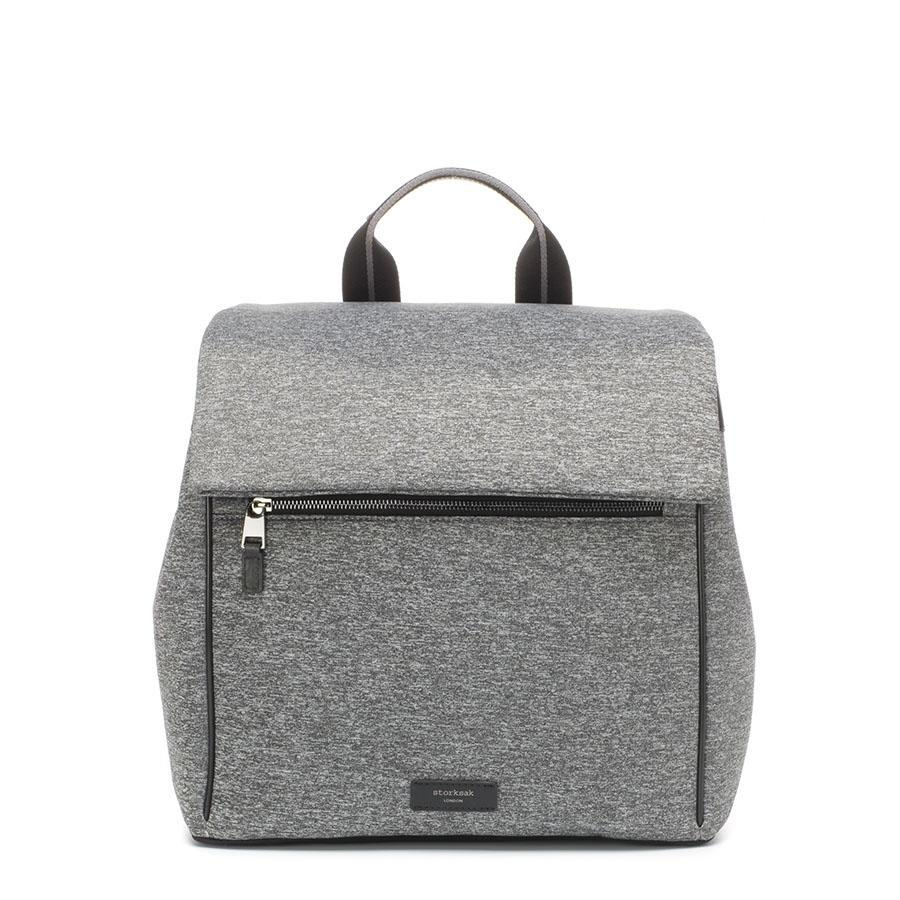 Baby Bag - Storksak St James Scuba Grey Marl