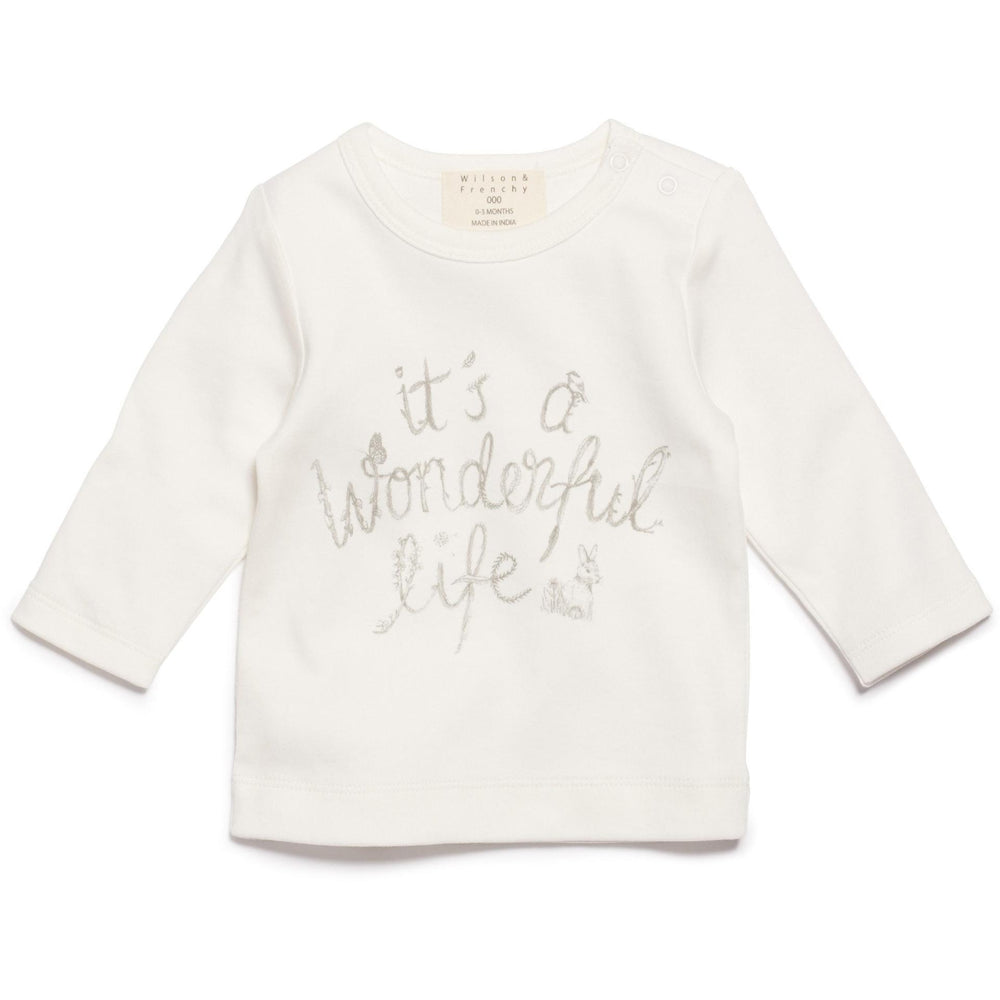 Baby Shirt - Long Sleeve Wonderful Life