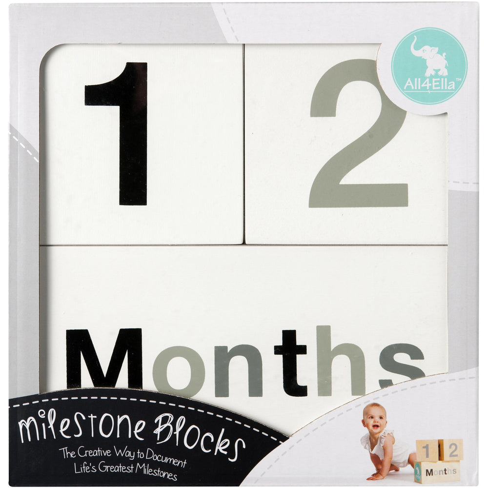 Milestone Blocks - Black & White - Baby Luno