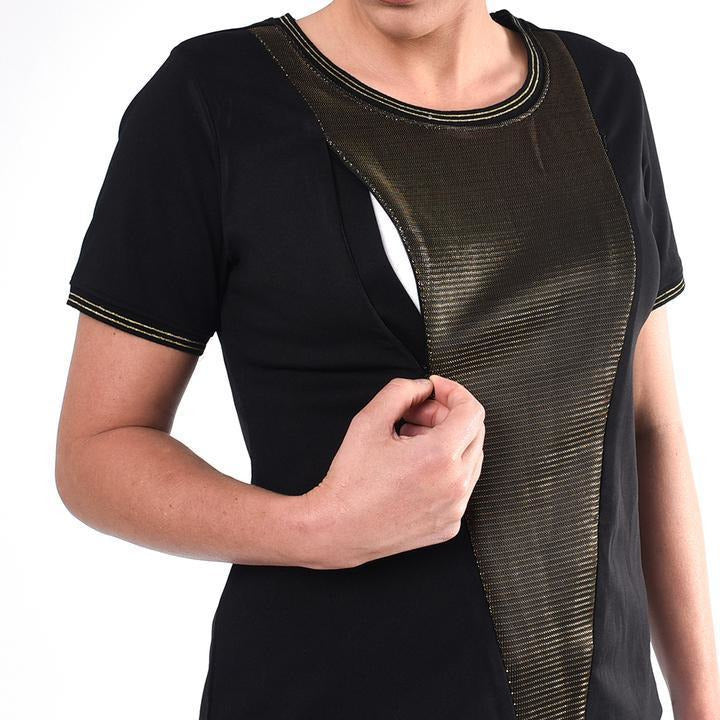 Gold Panel Nursing Top - Baby Luno