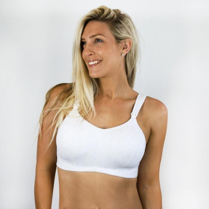 Nursing Sports Bra - Ultimate White Whisper - Baby Luno