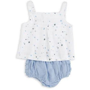 Load image into Gallery viewer, Baby Smock Top - Night Sky Starburst - Baby Luno