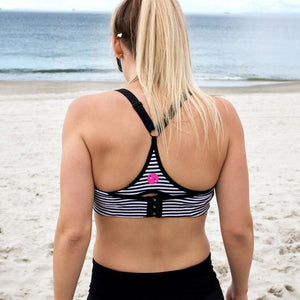 Load image into Gallery viewer, Nursing Sports Bra - FIT2FEED Stripe - Baby Luno
