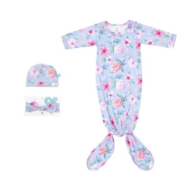 Knotted Onesie - Floral - Baby Luno