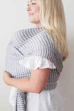 Baby Carrier - Wrap Grey Ribbon Stripe