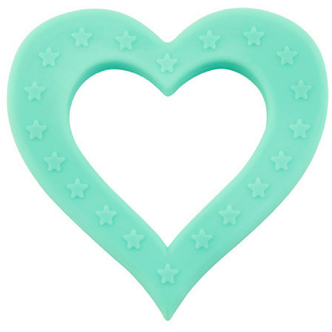Teether - Teal Heart