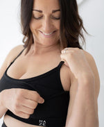 Nursing Sports Bra - Maze Black