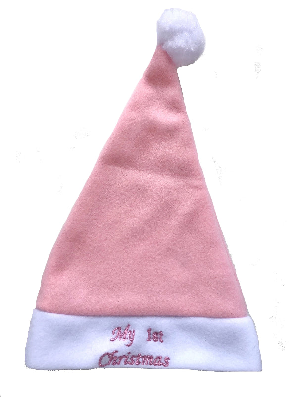Load image into Gallery viewer, Baby Christmas Santa Hat - Soft Pink - Baby Luno