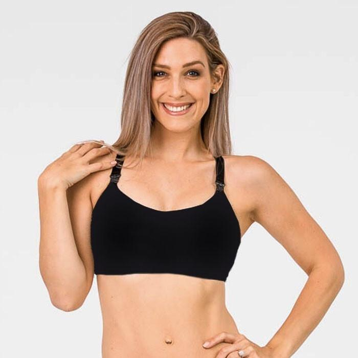 Nursing Sports Bra - FIT2FEED Black - Baby Luno