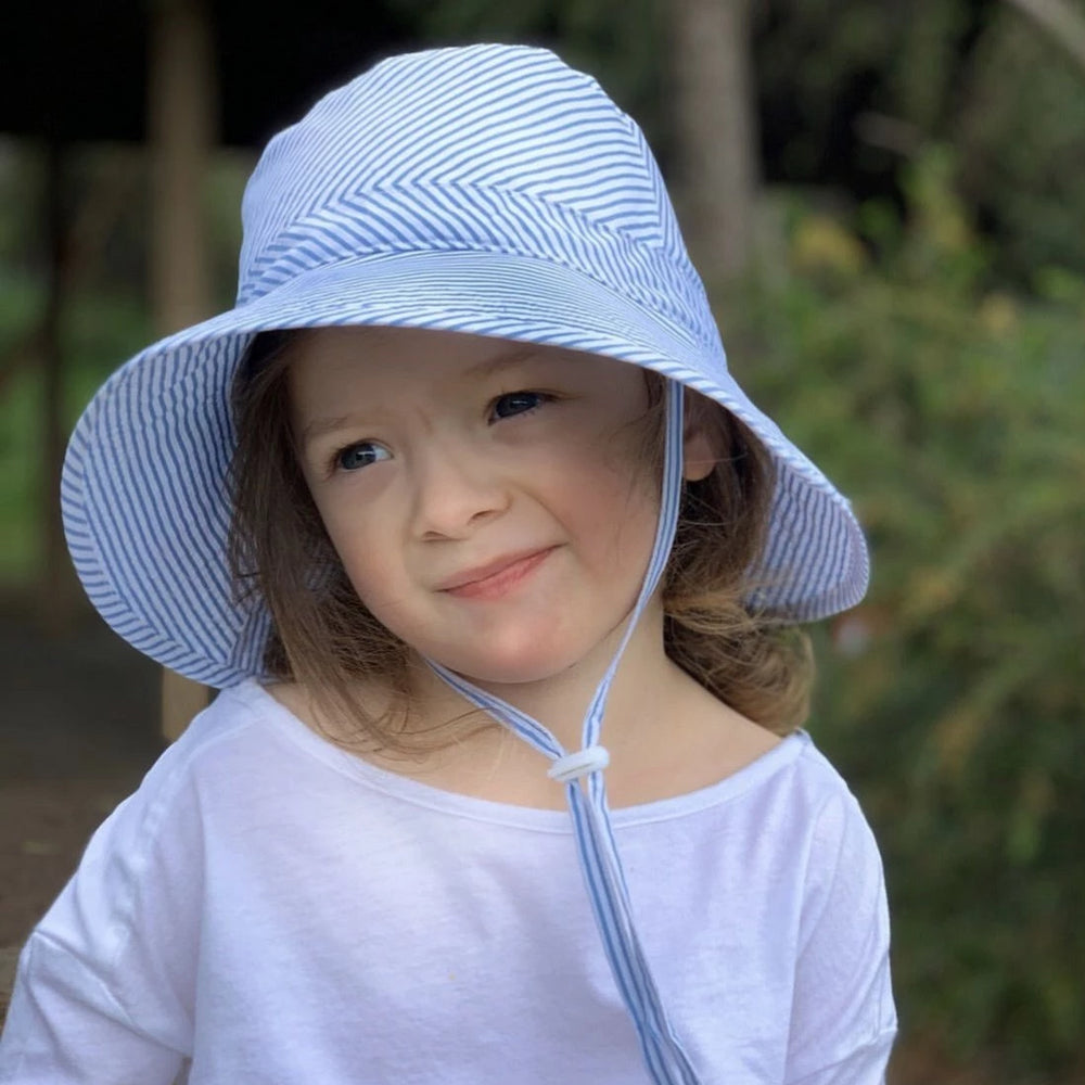 Kids Sunhat UPF 50+ Blue Stripe