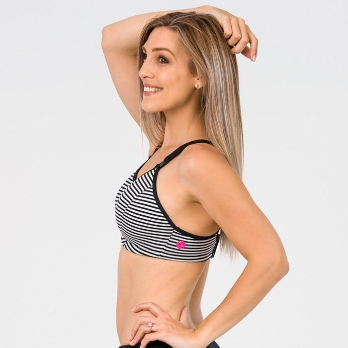 Nursing Sports Bra - Ultimate Stripe - Baby Luno
