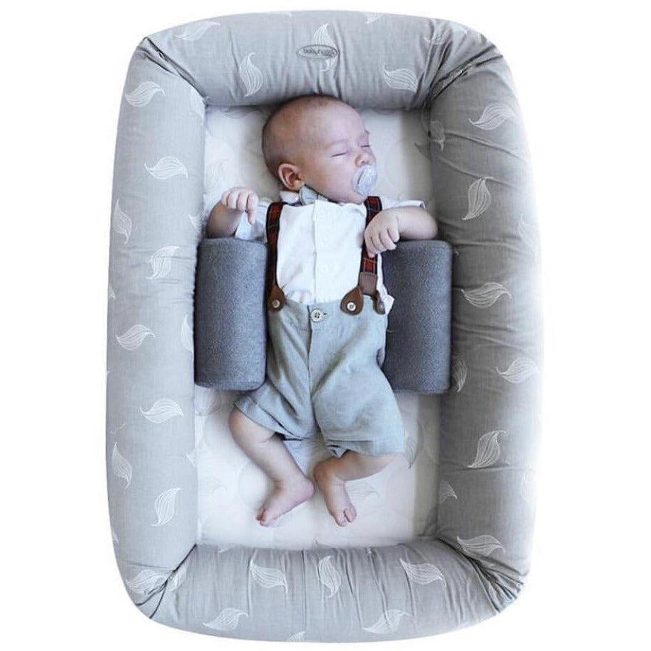 Load image into Gallery viewer, Baby Nest - Organic Cosy Crib Grey Leaf - Baby Luno