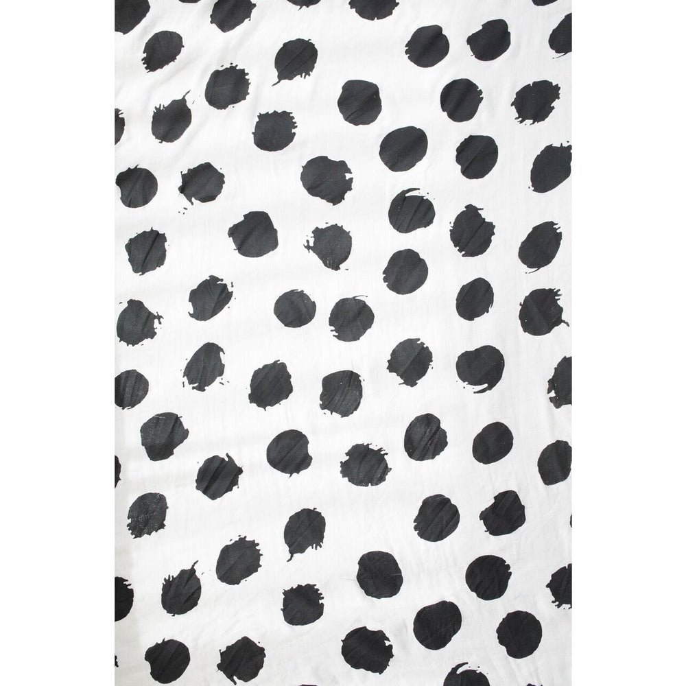 Baby Bamboo Swaddle Blanket - Ink Spots - Baby Luno