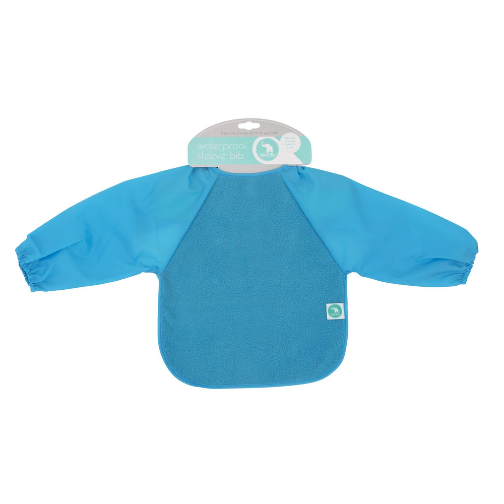 Baby Bib - Long Sleeve Blue
