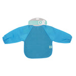 Baby Bib - Long Sleeve Blue - Baby Luno