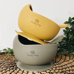 Stickie Bowl & Spoon Set - Mustard