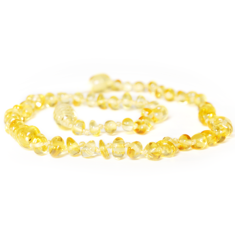 Baltic Amber Teething Necklace - Lemon