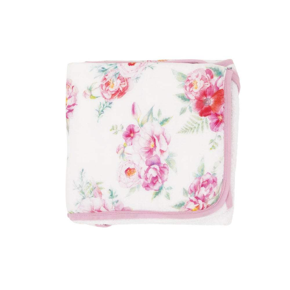 Load image into Gallery viewer, Hooded towel - Pink Floral - Baby Luno