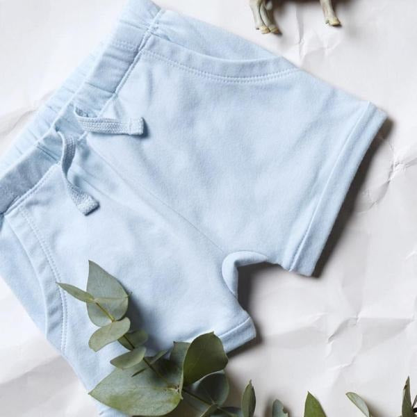 Baby Shorts - Powder Blue Slouch Pocket - Baby Luno