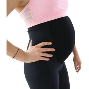 Load image into Gallery viewer, Maternity Leggings - Maze 3/4 Pregnancy Black - Baby Luno