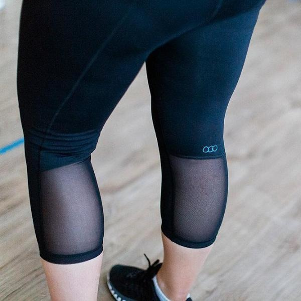 Maternity Leggings - Maze 3/4 Pregnancy Black - Baby Luno