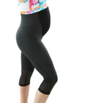 Maternity Leggings - Maze 3/4 Pregnancy Charcoal - Baby Luno