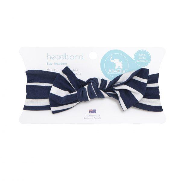 Top Knot Headband - Blue Stripe