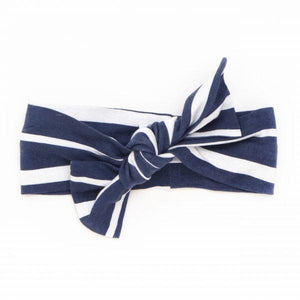 Top Knot Headband - Blue Stripe - Baby Luno
