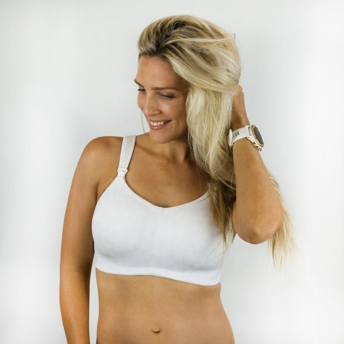 db49aa8b08 Nursing Sports Bra - Ultimate White Whisper - Baby Luno