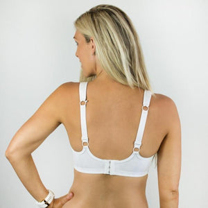 Load image into Gallery viewer, Nursing Sports Bra - Ultimate White Whisper - Baby Luno