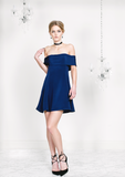 Navy Off-the-Shoulder Dress