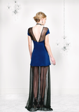 Silk Navy Gown