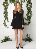 LITTLE BLACK DRESS WITH APPLIQUÉ