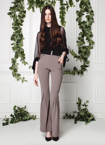 BUTTON-UP & FLARED TROUSERS