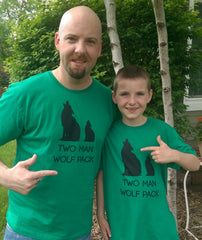 We Match! Two Man Wolf Pack™ Father & Son Matching Shirts For Family Set