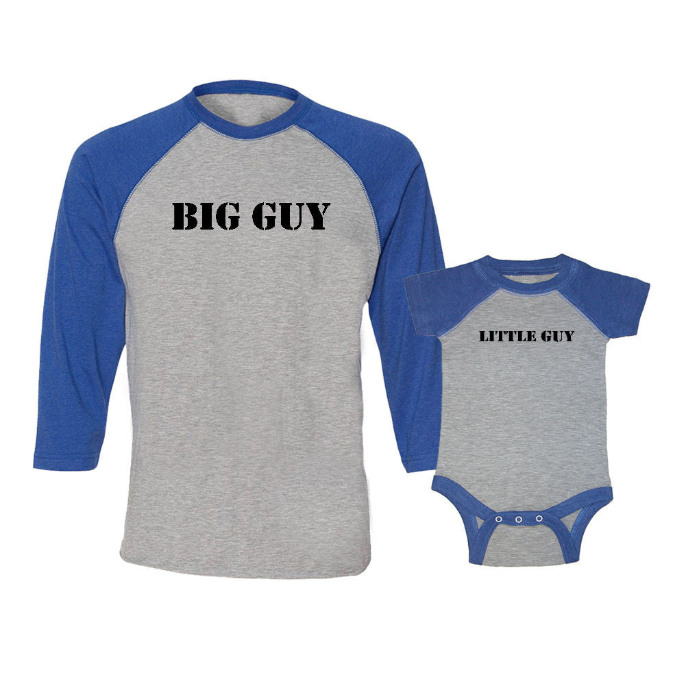 We Match!™ Big Guy & Little Guy Matching Adult & Child 3/4 Sleeve Baseball T-Shirt Set