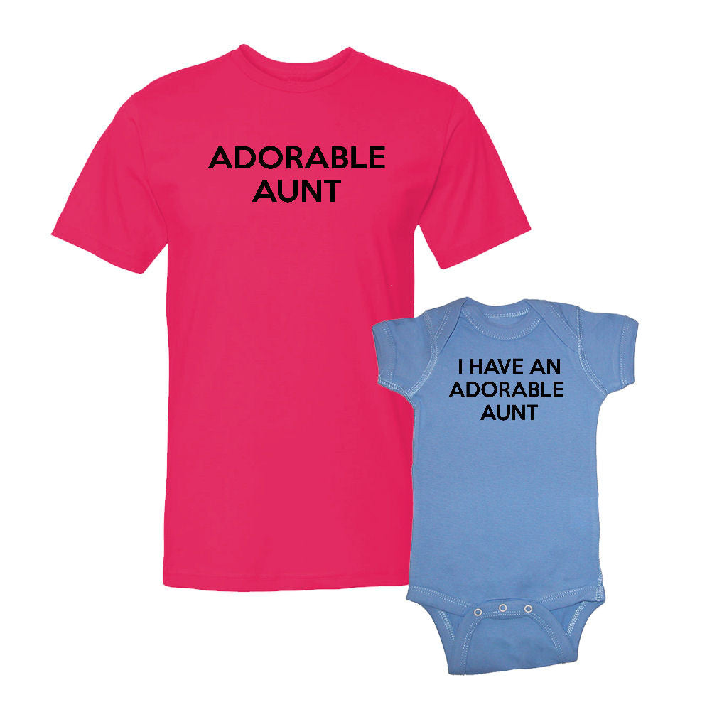 We Match!™ Adorable Aunt & I Have An Adorable Aunt Matching Shirts For Family Set