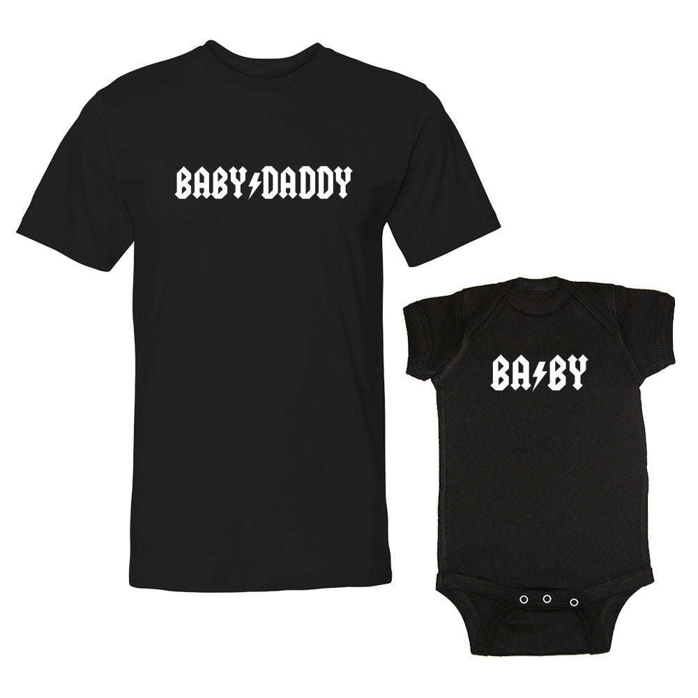 We Match!™ Baby Daddy & Baby Rock Star Matching Shirts For Family Set