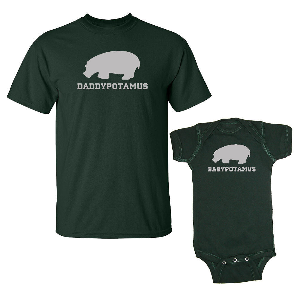 We Match!™ Daddypotamus & Babypotamus T-Shirt & Baby Bodysuit Set