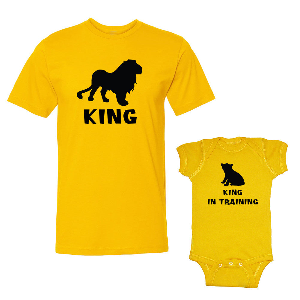 We Match!™ King (Lion) & King In Training (Cub) Matching Shirts For Family Set